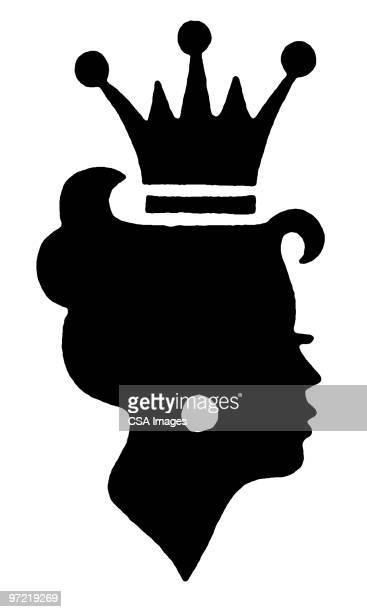 ilustraciones, imágenes clip art, dibujos animados e iconos de stock de woman in crown - reina de belleza