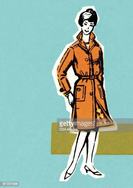 Woman in orange coat