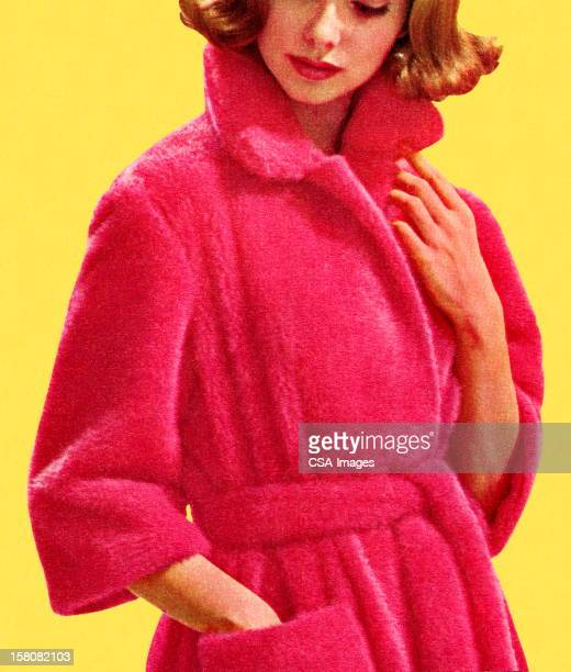 Woman in Pink Robe