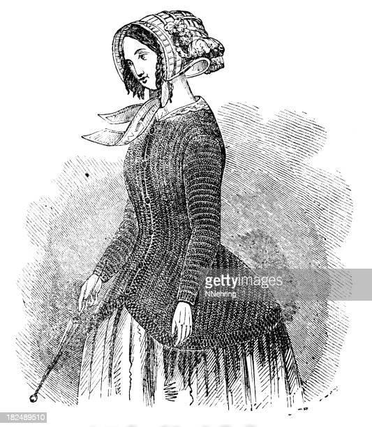 Mujer chaqueta de polca