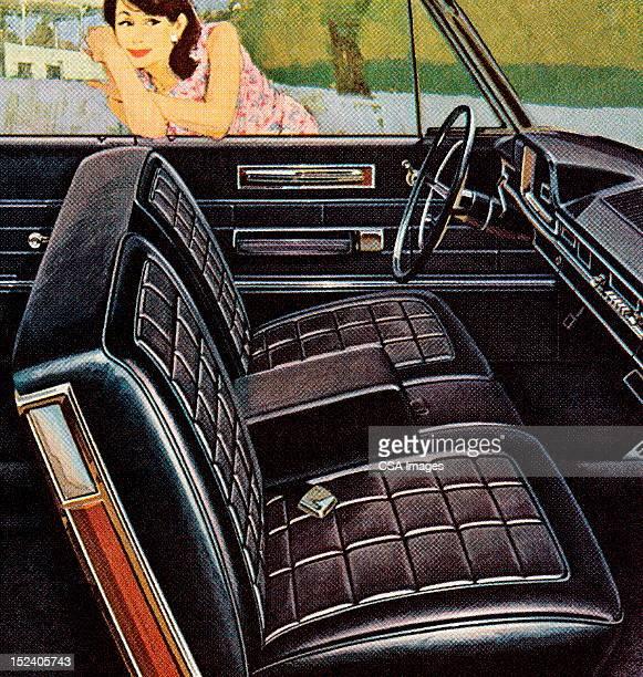 Woman Looking at Car Interior