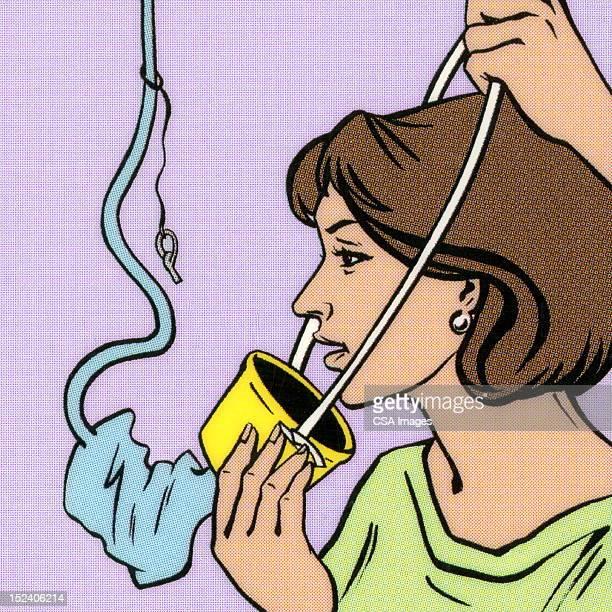 woman putting oxygen mask on - oxygen mask stock illustrations