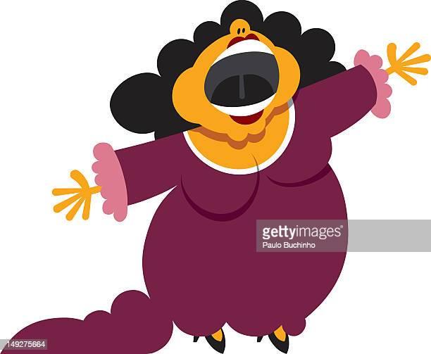 ilustrações de stock, clip art, desenhos animados e ícones de a woman singing - buchinho