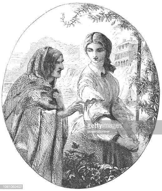 Woman Talking to a Fortune Teller - Victorian Style (1859)