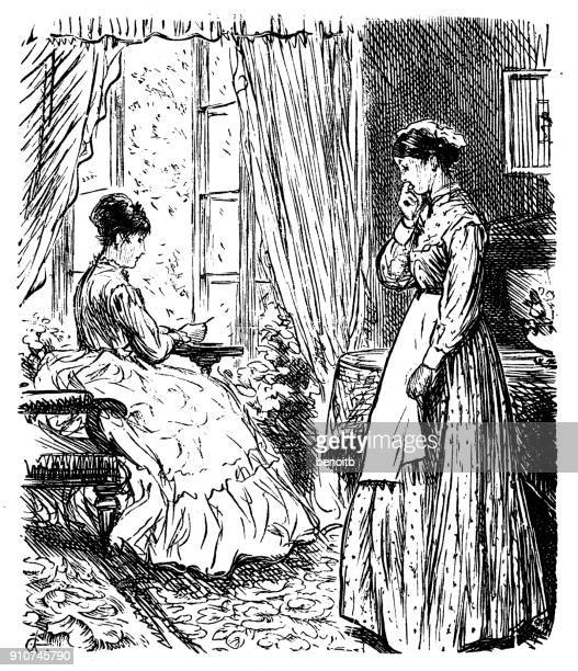 Woman talking with her maid