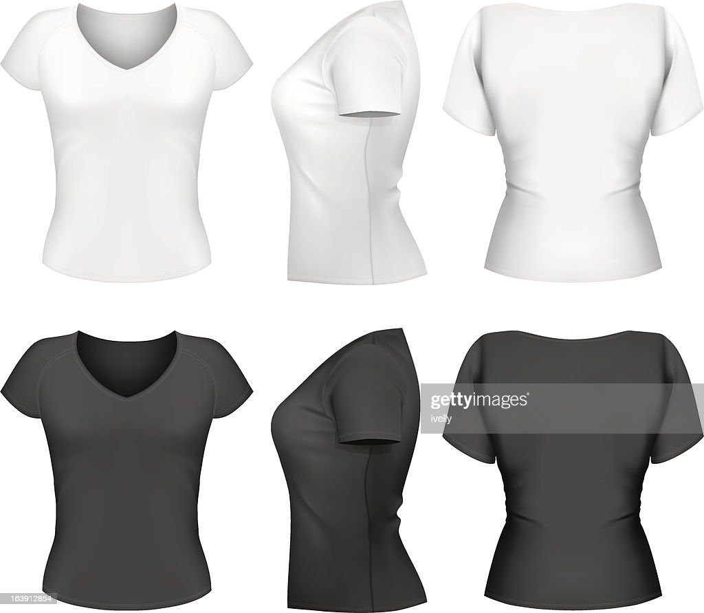 Woman t-shirt design template