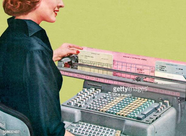 Woman Using Office Equipment