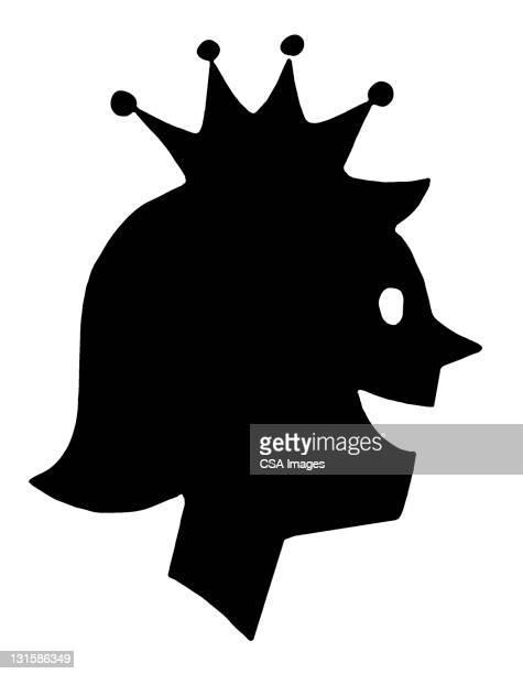 ilustraciones, imágenes clip art, dibujos animados e iconos de stock de woman wearing crown - reina de belleza