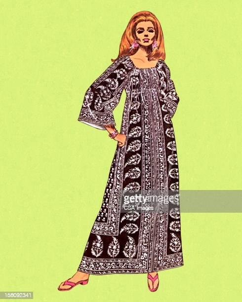 Woman Wearing Kaftan
