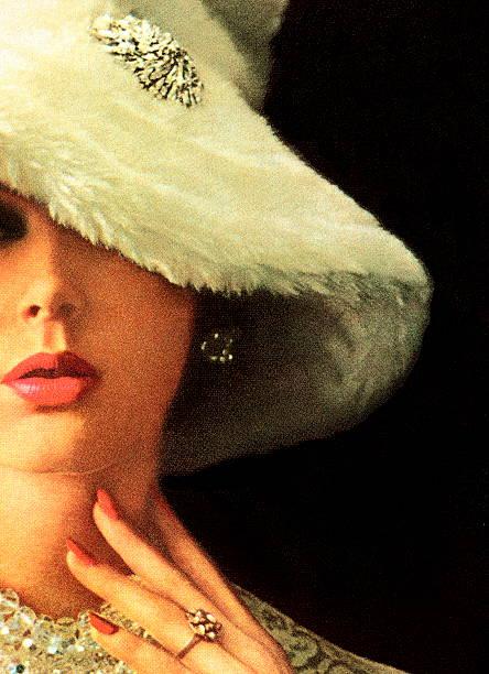 Woman Wearing White Floppy Hat