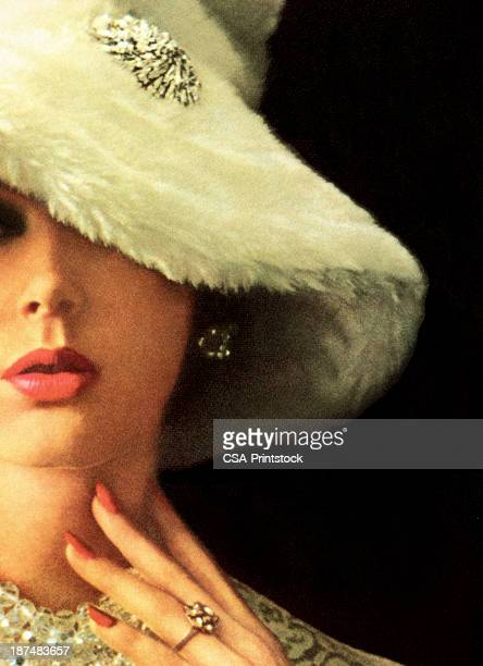 ilustraciones, imágenes clip art, dibujos animados e iconos de stock de mujer usando sombrero blanco disquete - modelo de artista