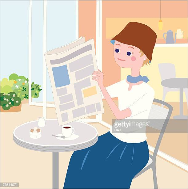 woman who passes over in the cafe, illustrative technique - sugar cube stock illustrations, clip art, cartoons, & icons