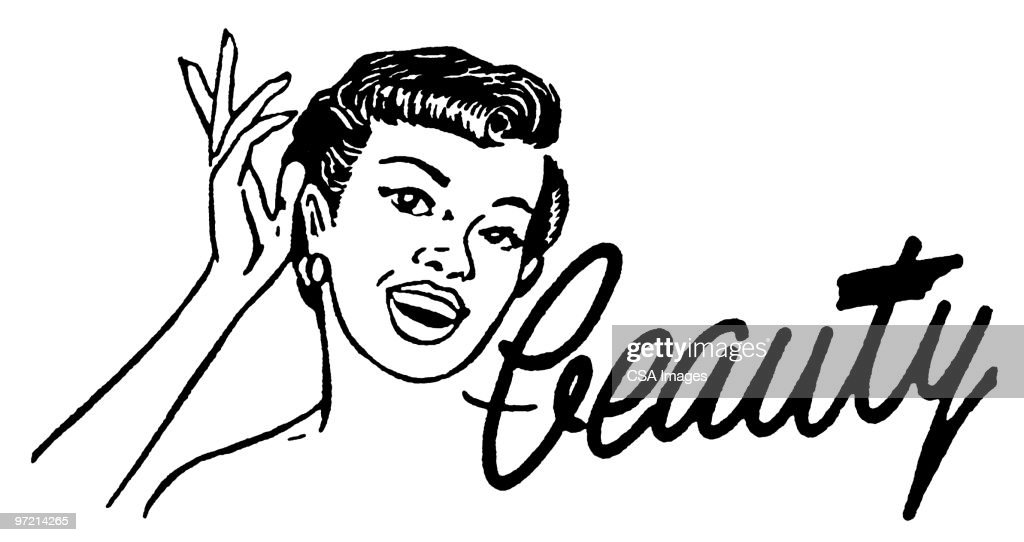 Woman With Beauty Word Art Stock Illustration