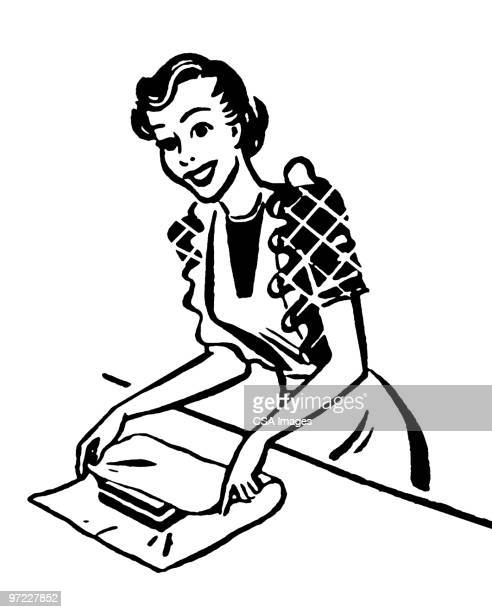 woman with gift - baker occupation stock illustrations