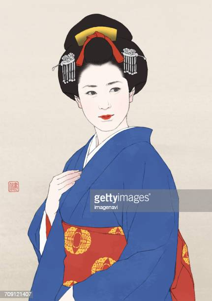 A Woman With Japanese Style Hair
