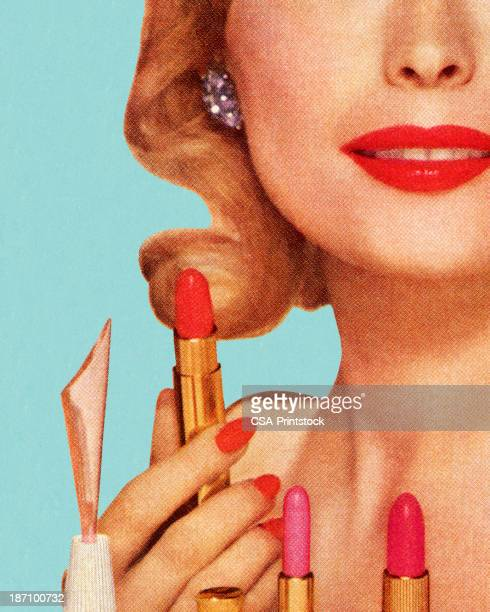 Woman With Lipsticks