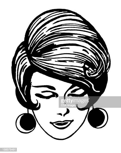 Woman With Retro Mod Hairstyle Stock Illustration Getty Images