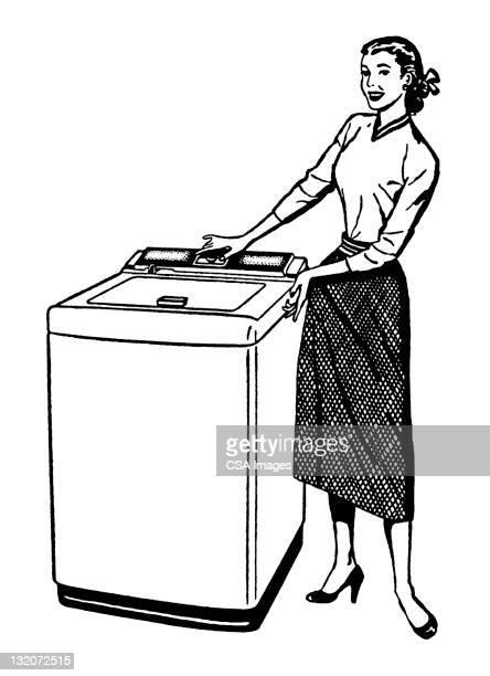 Woman With Washing Machine