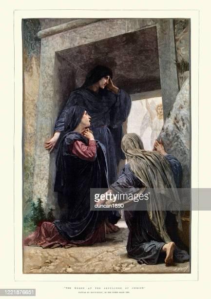 キリストの墓に立つ女性たち - メアリー マグダレーン点のイラスト素材/クリップアート素材/マンガ素材/アイコン素材