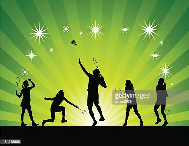 Frauen badminton abstrakte