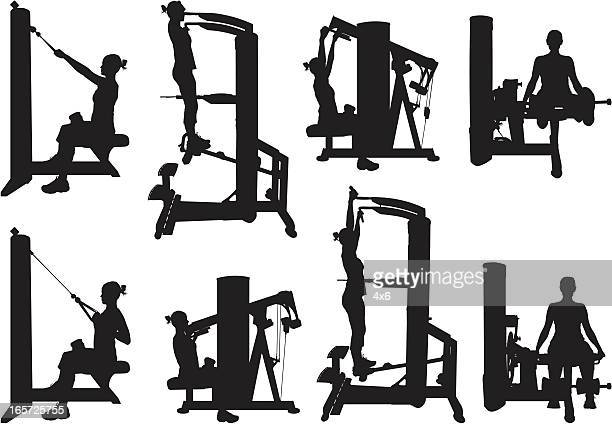 Women exercising in a gym