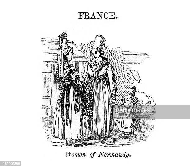 women of normandy - normandy stock illustrations, clip art, cartoons, & icons