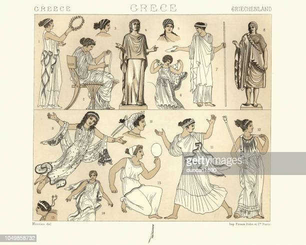 Womens costumes of Ancient Greece, Palla or peplos and tunics