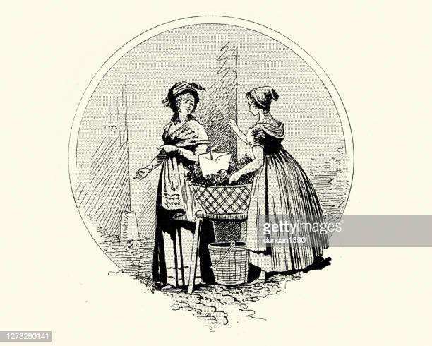 19世紀初頭の女性のファッション、パリ、フランス - 1800~1809年点のイラスト素材/クリップアート素材/マンガ素材/アイコン素材