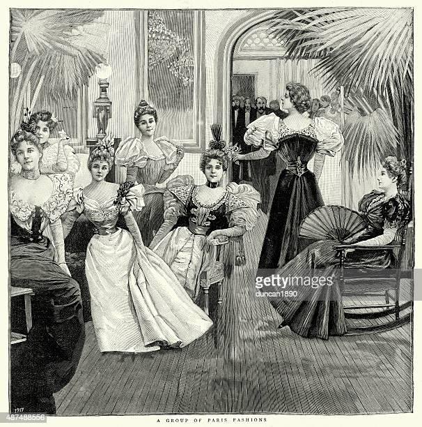 女性パリのファッションの 1897 - 1890~1899年点のイラスト素材/クリップアート素材/マンガ素材/アイコン素材