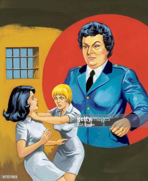women's prison - uniform stock illustrations