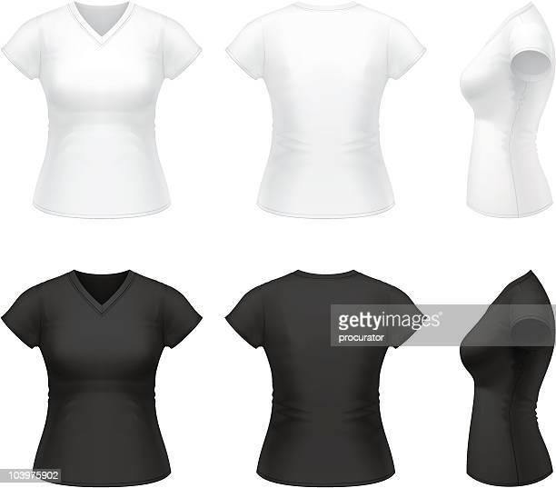 女性の v ネック t シャツ - vネック点のイラスト素材/クリップアート素材/マンガ素材/アイコン素材