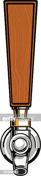 wood beer tap - handle stock illustrations