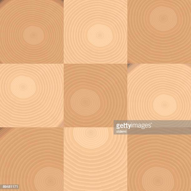 wood - tree rings stock illustrations, clip art, cartoons, & icons