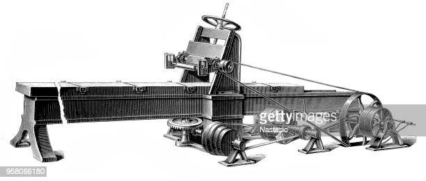 Wood planer (tangential planer) machine