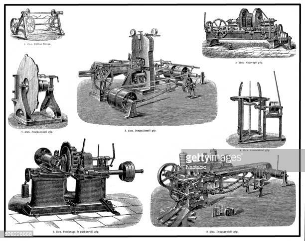 wood processing machines - power tool stock illustrations, clip art, cartoons, & icons