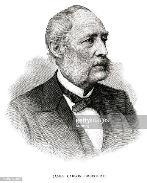woodcut of James Carson Brevoort