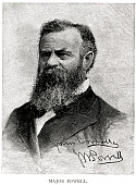 woodcut portrait john wesley powell march