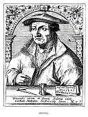 woodcut portrait german sebastian münster cosmographer