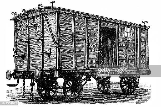 Wooden boxcar