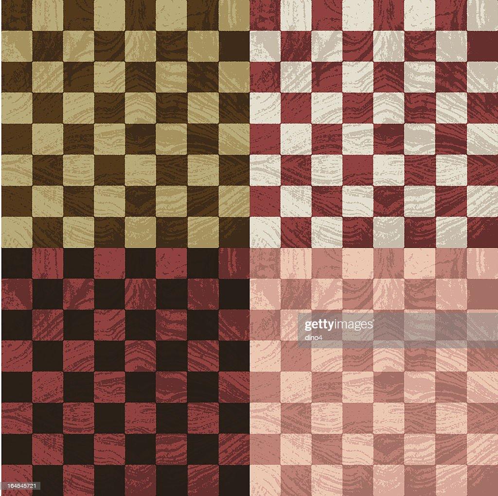 Chessboards de madera : Ilustración de stock