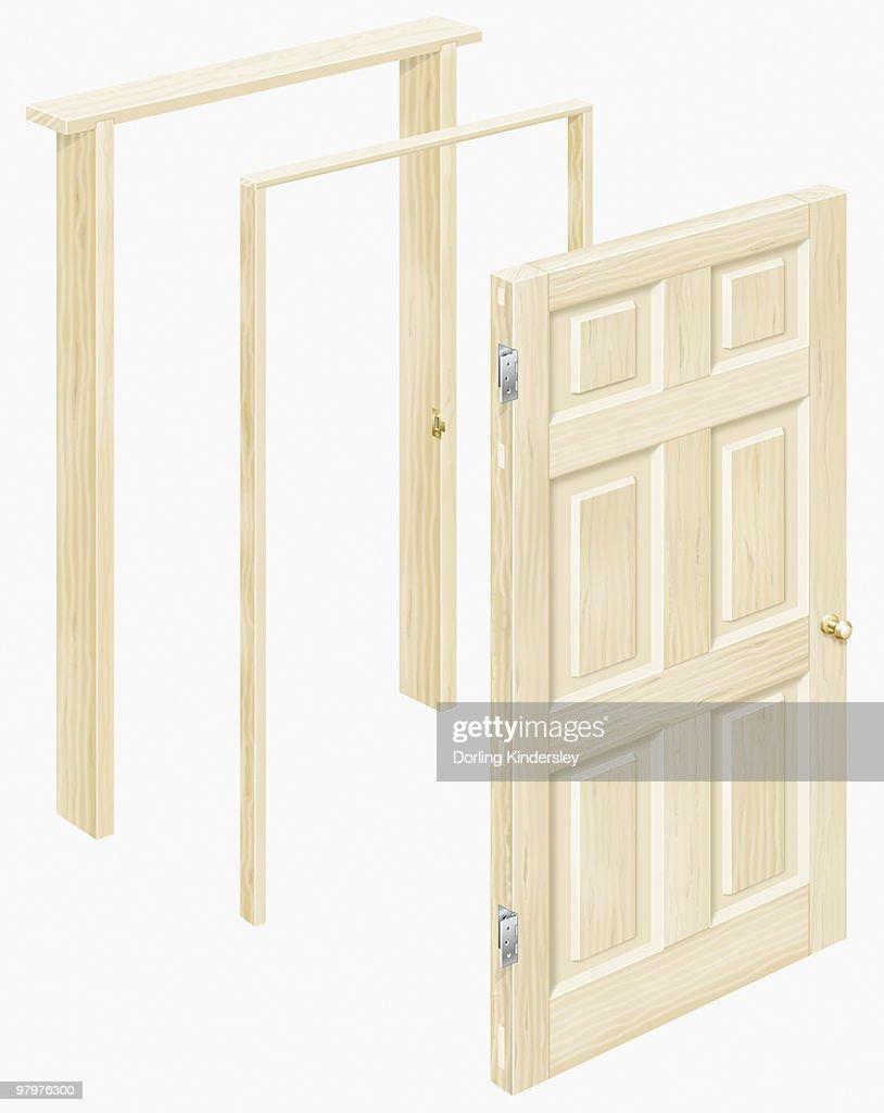 Wooden Door And Door Frames Stock Illustration | Getty Images