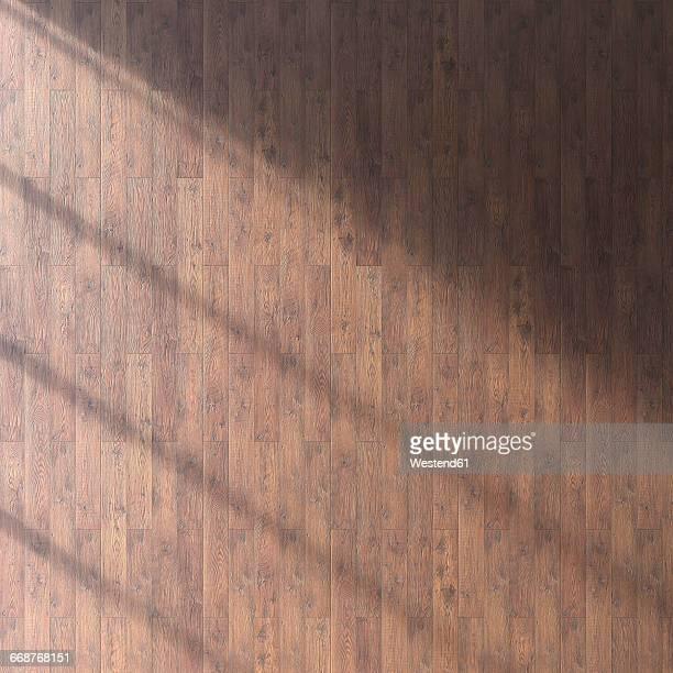 wooden floor seen from above, 3d rendering - office stock illustrations