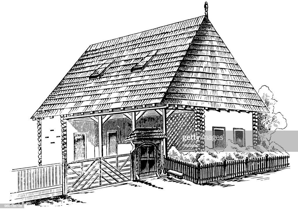 Wooden house : Stock-Illustration