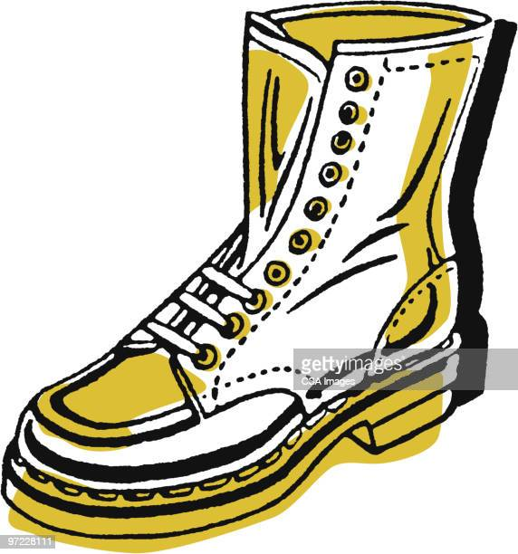 work boot - leather boot stock illustrations