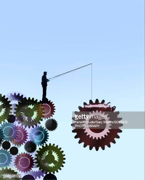 work, conceptual illustration - corporate business stock illustrations