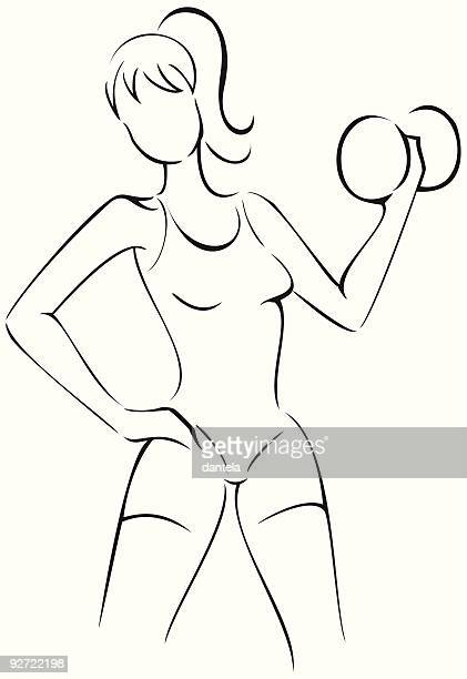 working out - leisure facilities stock illustrations, clip art, cartoons, & icons