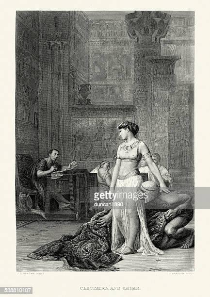 illustrazioni stock, clip art, cartoni animati e icone di tendenza di opere di william shakespeare-giulio cesare e cleopatra - cleopatra