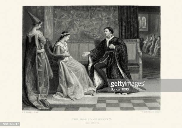 works of william shakespeare - king henry v - william shakespeare stock illustrations, clip art, cartoons, & icons