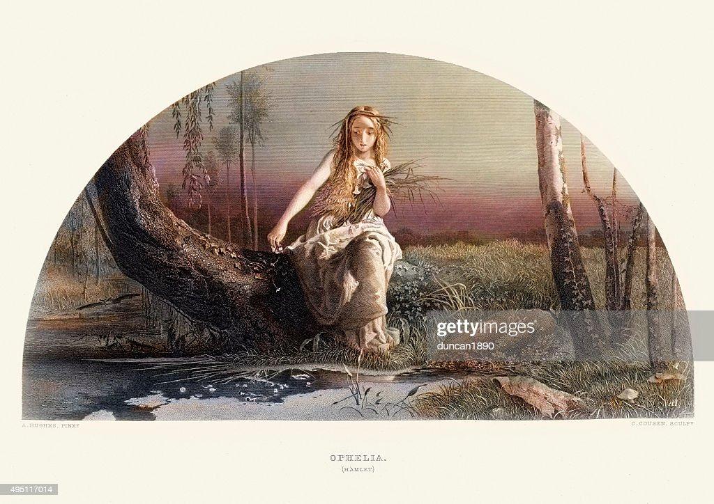 Ophelia Shakespeare: Works Of William Shakespeare Ophelia From Hamlet Stock
