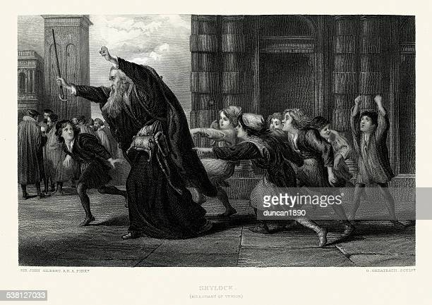 works of william shakespeare - shylock - venice italy stock illustrations, clip art, cartoons, & icons